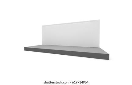 3D interior stage event led tv light day staging render illustration