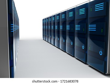 3D internet server  3D ILLUSTRATION