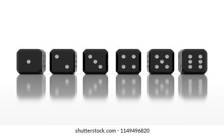 3d isolated game dices