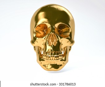 3D Isolated Human Skull.