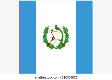 A 3D Isometric Flag Illustration of the country of  Guatemala