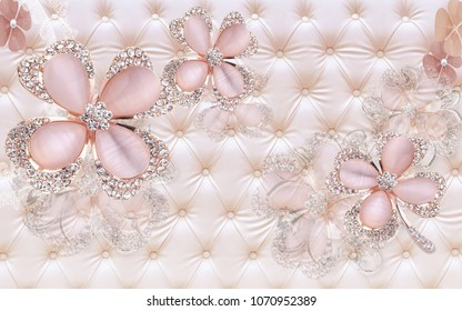 3d Jewellery background wallpaper for walls.