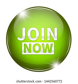 3d join now button isolated