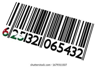 3d code-barres jordanien sur fond blanc