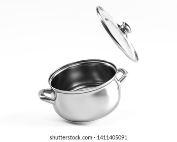 3d kitchen pan concept. 3d rendered illustration