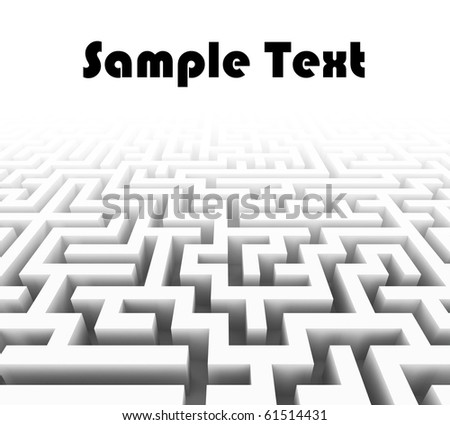 3 D Labyrinth Place Sample Text Stock Illustration 61514431