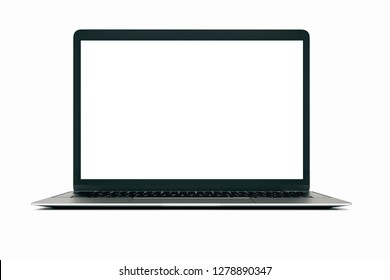 3d laptop on white background