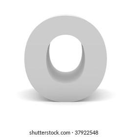 3d letter O