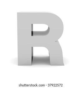 3d letter R