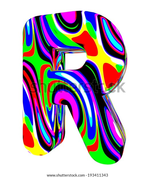 3d Letter R Colored Bright Colors Stock Illustration 193411343