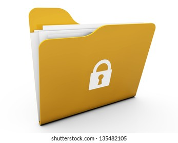 3d Lock folders with paper