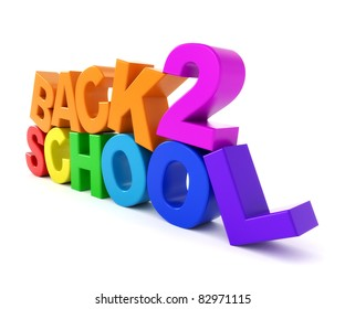 3d logo Back to school