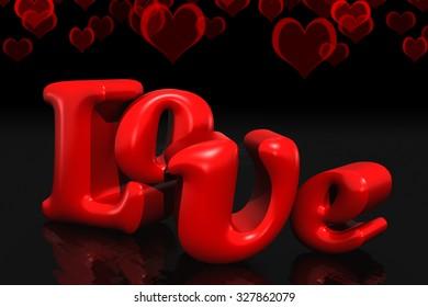 Love 3d text. romantic concept | Premium Photo | 280x390