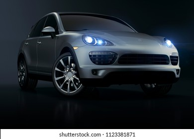 3d luxury sport SUV car