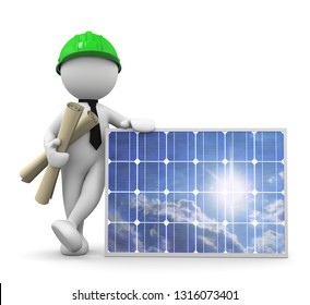 3d man photovoltaic project