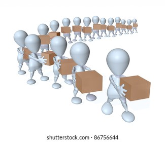 3d man product supply chain