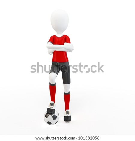 63d8aea292 Royalty Free Stock Illustration of 3 D Man Soccer Player Ball On ...