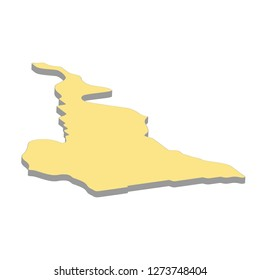 3d map of Cameroon. Silhouette of Cameroon map  illustration