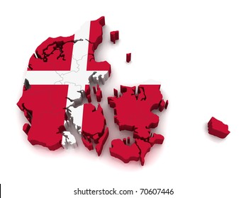 3D Map of Denmark
