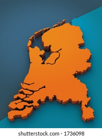 3D Map of  Holland