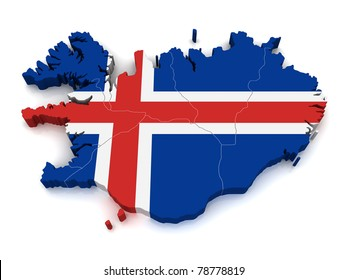 3D Map of Iceland
