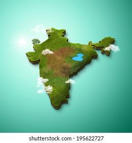 3D Map of India