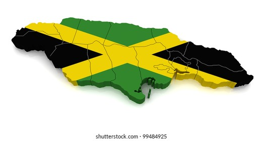3D Map of Jamaica