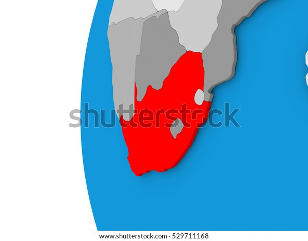 3d Map Of South Australia.3d Map South Africa Focused Red Stock Illustration 529711168
