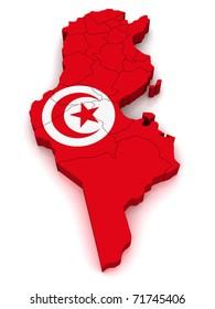 3D Map of Tunisia