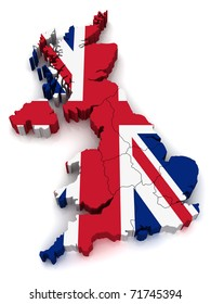 3D Map of United Kingdom
