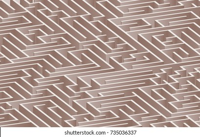3d maze viewed from above in Brown from the Material Design palette