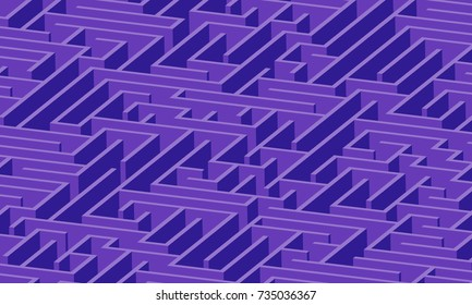 3d maze viewed from above in Deep Purple from the Material Design palette