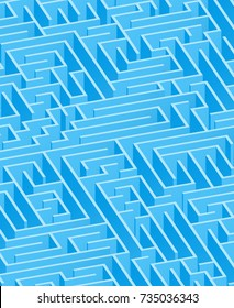 3d maze viewed from above in Light Blue from the Material Design palette