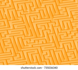 3d maze viewed from above in Orange from the Material Design palette