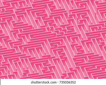 3d maze viewed from above above in Pink from the Material Design palette