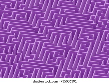 3d maze viewed from above in Purple from the Material Design palette