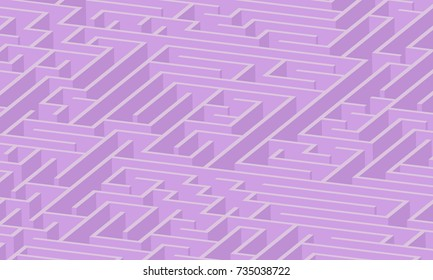3d maze viewed from above in purple from the Flat UI palette