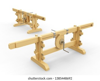 A 3D mechanism used to change the rotational movement to a linear motion.