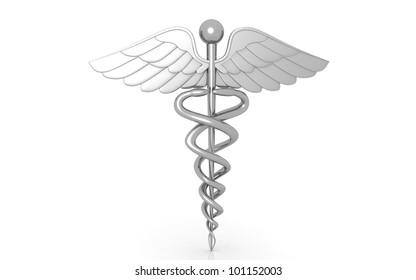 3d medical logo on a white background