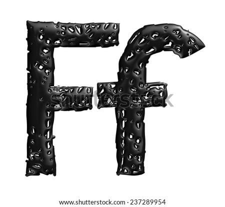 Royalty Free Stock Illustration Of 3 D Melt Black Alphabet Letter F