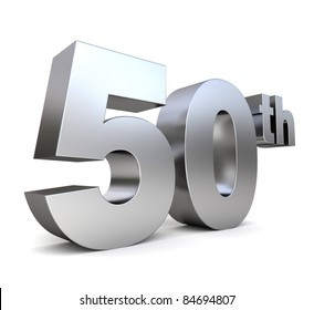 3d metal anniversary number - 50th
