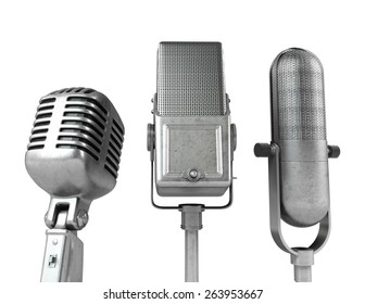 3D. Microphone, The Media, Speech.