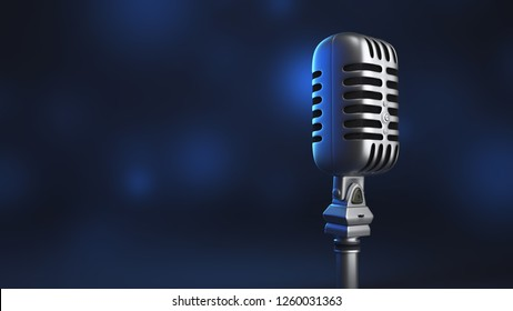 3D Microphone, Music Karaoke Mic, Talk (3D Rendering)