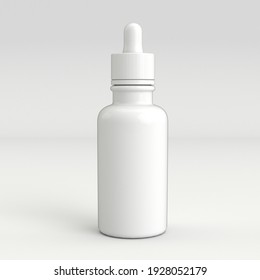 3D mock up of white dropper without label