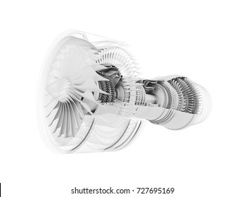 3d model of airplane engine