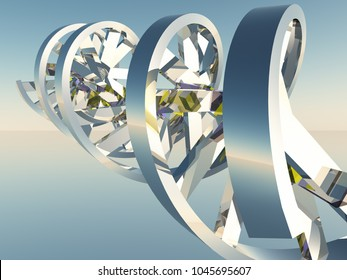 3D model of DNA Strand. 3D rendering