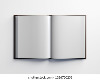 3D model of the expanded book. White sheet.