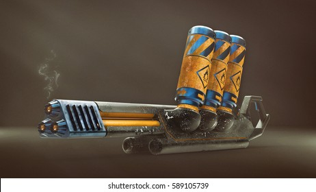 3D model of the future weapons (flamethrower)