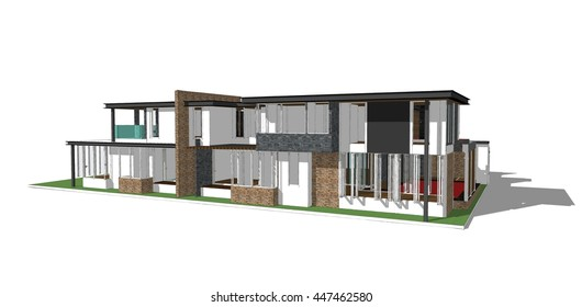 3d model of the house ,Sketchup