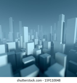 3d model of miniature city downtown, Architectural concept